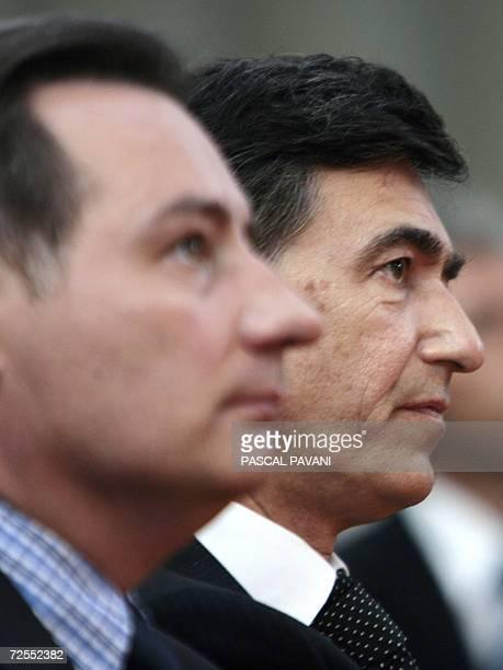 Photo prise le 08 septembre 2006 du ministre des Affaires Etrangeres Francais Philippe Douste-Blazy participant au cote du maire UMP de Toulouse...