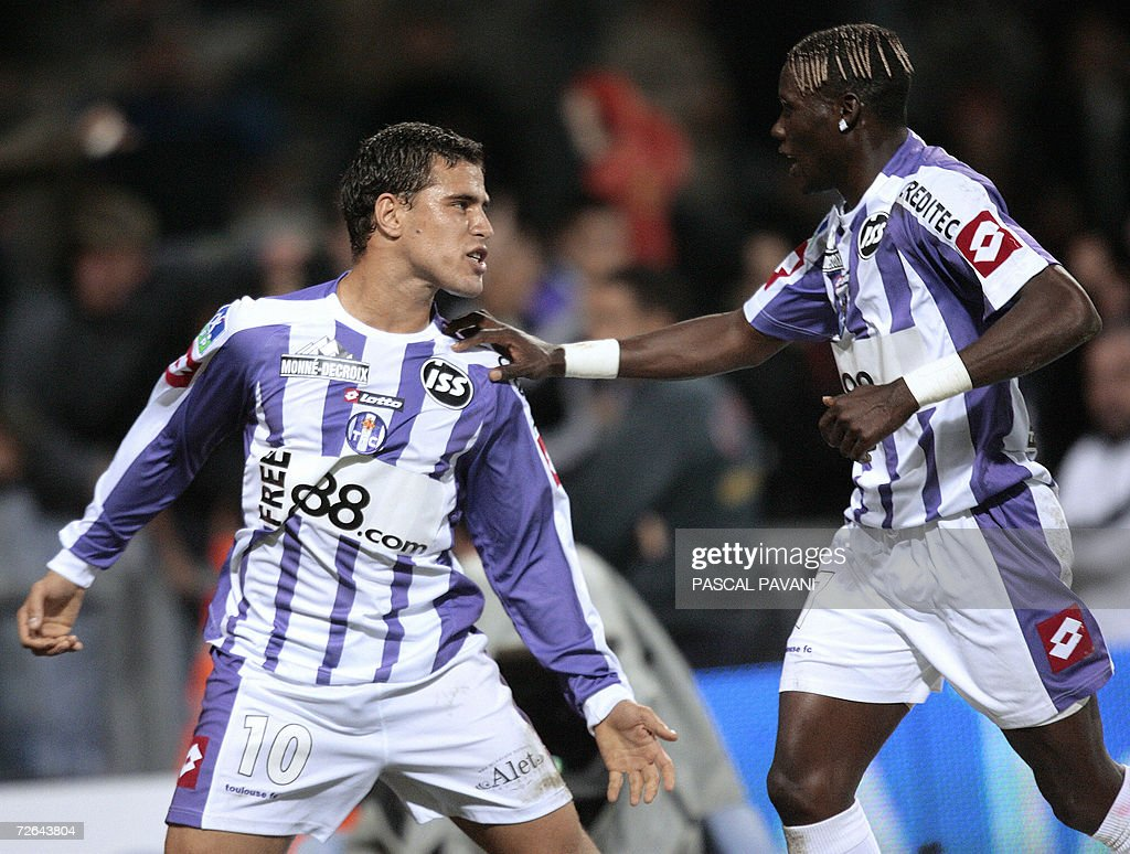 Toulouse's midfielder Bryan Bergougnoux : News Photo