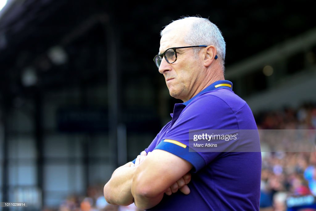 Toulouse head coach Alain Casanova during the Pre-Season Friendly between Crystal Palace and Toulouse at Selhurst Park on August 4, 2018 in London, England.