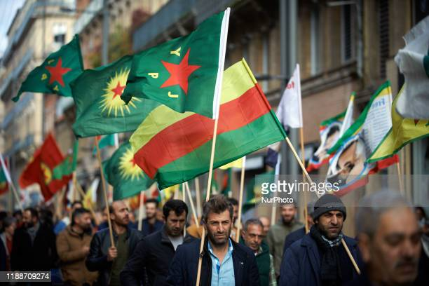 Toulouse' Kurdish people gathered in support of the Syrian Kurdistan and against the Turkish offensive. They called on the UN to establish a no-fly...