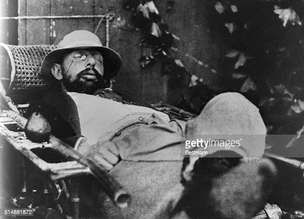Toulouse Lautrec French painter and Illustrator Asleep in chair Undated photograph BPA2# 1118