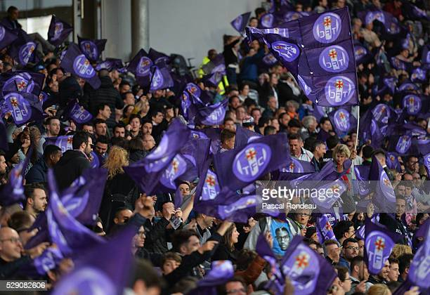 Toulouse supporters during the match between Toulouse v Troyes> at Stadium Municipal on May 7 2016 in Toulouse France