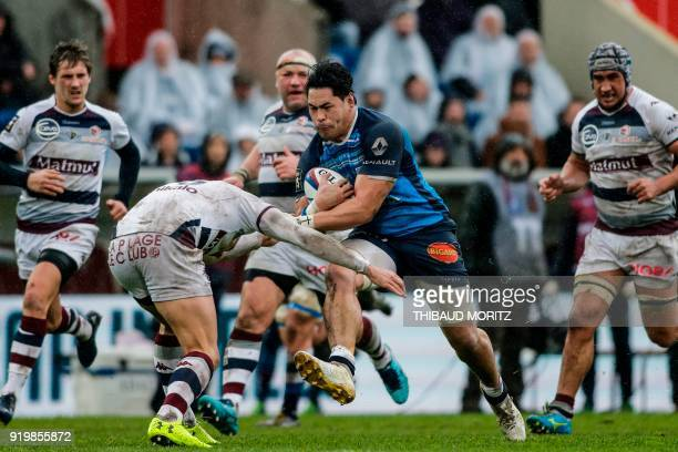 TOPSHOT Toulouse's Alex Tulou runs with the ball during the French Top 14 rugby union match between Union BordeauxBegles and Castres at ChabanDelmas...