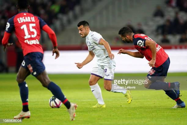 Toulouse's Corentin Jean during the Ligue 1 match between Lille and Toulouse at Stade Pierre Mauroy on December 22, 2018 in Lille, France.