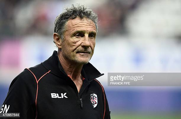 Toulouse's French General Manager Guy Noves is pictured before the French Top 14 rugby match between Stade Francais Paris and Toulouse at Jean Bouin...