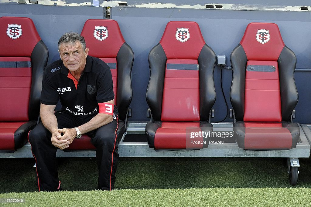 Toulouse's French General Manager Guy Noves looks on before the French Top 14 rugby union match between Toulouse and Oyonnax on May 30, 2015 at the Ernest Wallon Stadium in Toulouse, southern France.