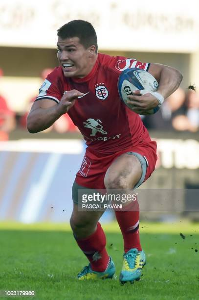 Toulouse's French scrumhalf Antoine Dupont during the European Rugby Champions Cup rugby union match between Toulouse and Leinster at the Ernest...