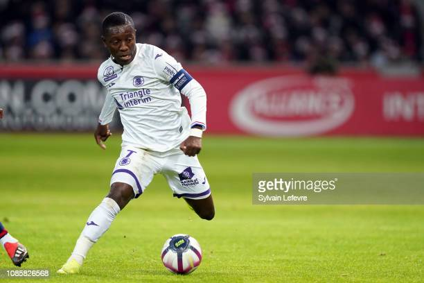 Toulouse's Max Gradel during the Ligue 1 match between Lille and Toulouse at Stade Pierre Mauroy on December 22, 2018 in Lille, France.