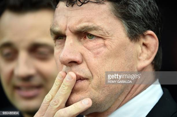 Toulouses' President Didier Lacroix attends the Top 14 rugby union match Stade Toulousain versus Lou Lyon at the Ernest Wallon stadium in Toulouse...