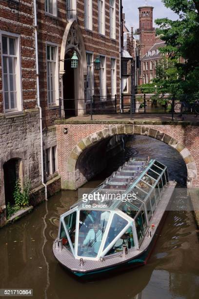 Tour Boat in Front of Pope's House in Netherlands