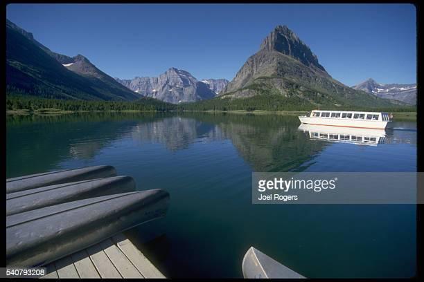 Tour Boat on Lake Sherburne in Glacier National Park