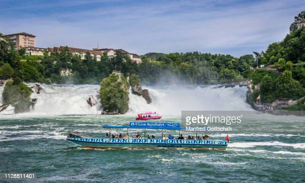 tour boats at rhine falls rheinfall