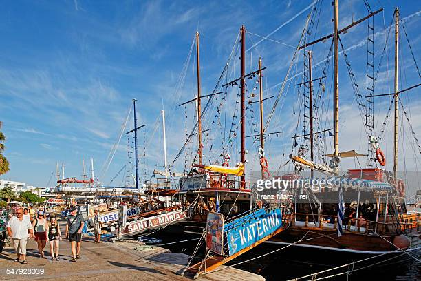 Tour boats in Mandraki harbour, Kos Town