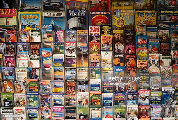 Tour brochures at shop on Esplanade.