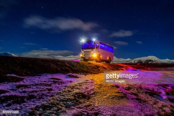 Tour Bus by Hornafjordur, Eastern Iceland