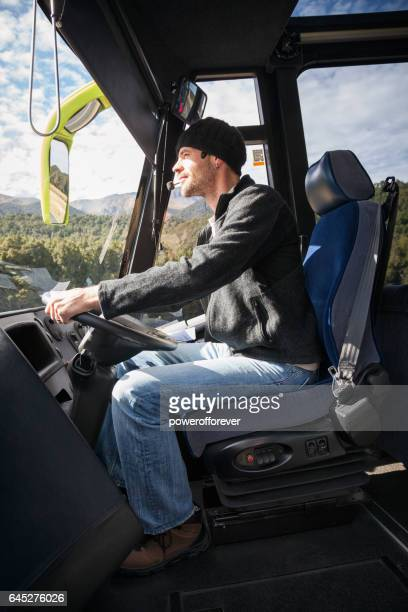 Tour Bus Driver in Fiordland National Park, New Zealand