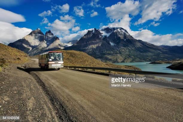 Tour Bus in Torres del Paine National Park