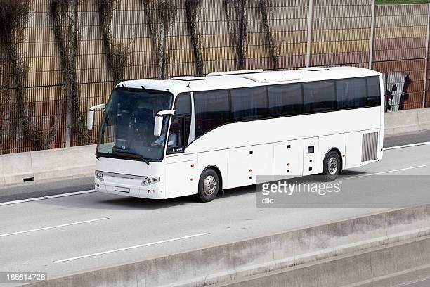 Tour bus on german Autobahn