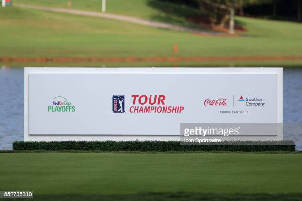 Tour Championship sign at the second round of the PGA Tour Championship on September 22 2017 at East Lake Golf Club in Atlanta Georgia