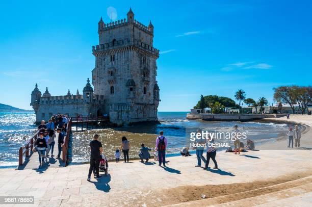Tour de Belem et plage le 30 mars 2017 Lisbonne Portugal