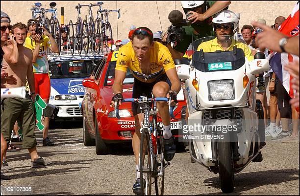 Tour De France 14Th Stage Lodeve / Mont Ventoux On July 21Th 2002 In Mont Ventoux France Lance Armstrong