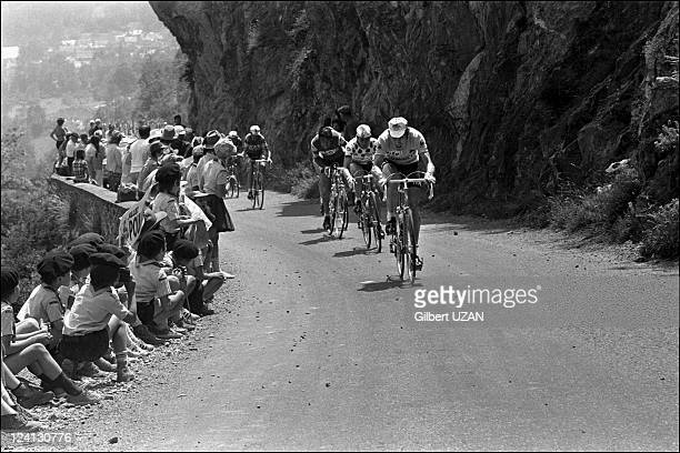 Tour de France 1975 Pau StLary Soulan in France on July 08 1975 Ascent of the hill