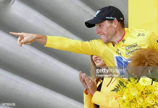 Tour de France 2003, 15. Etappe; Bagneres-de-Bigorre - Luz-Ardiden; Etappensieger Lance ARMSTRONG/USA - Team US Postal -