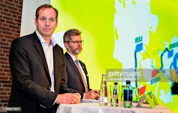 Tour de France Director Christian Prudhomme and the mayor of Copenhagen and chairman of the Grand Depart Copenhagen Denmark, Frank Jensen present the...
