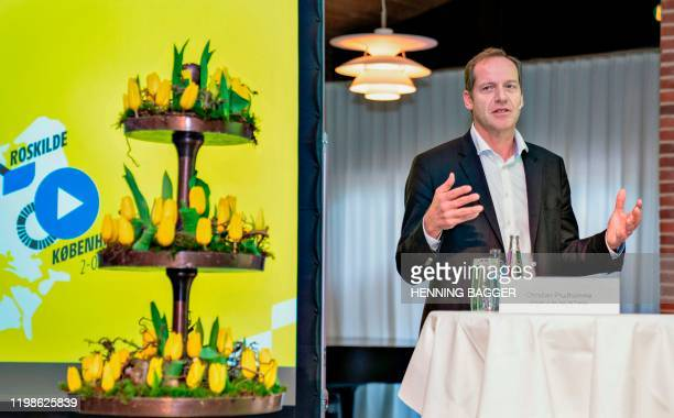 Tour de France Director Christian Prudhomme speaks during the presentation of the Grand Depart with the first three stages of the Tour de France 2021...