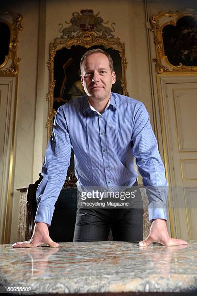 Tour de France general director Christian Prudhomme during an interview and photoshoot in Liege, Belgium, April 22, 2011.