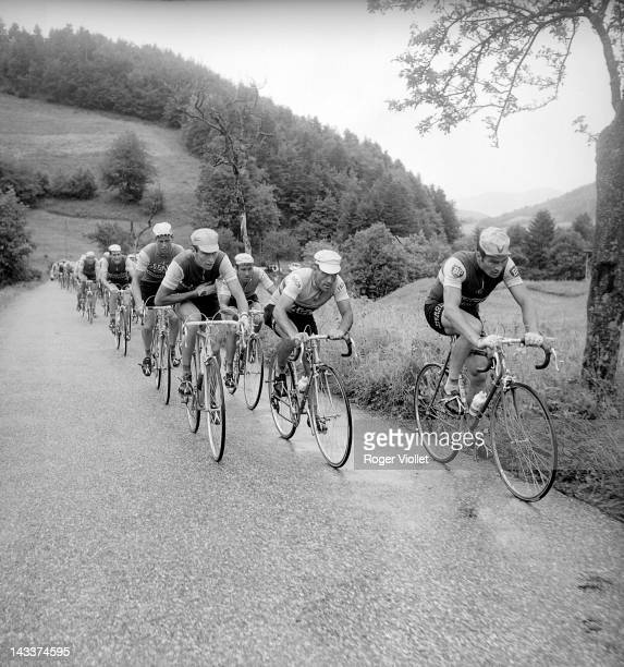 Tour de France in 1966 or 1967 Stage in the Pyrénées On the left Felice Gimondi On the right Raymond Poulidor