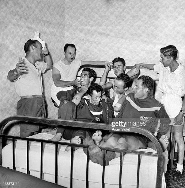 Tour de France, Paul Maye , sports manager of the South-West team: Agut, Bergaud, Lampre, Dupré, July 17, 1955.