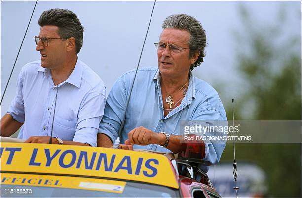 Tour de France Prologue in Puy Du Fou France on July 03 1999 Philippe de Villiers Alain Delon