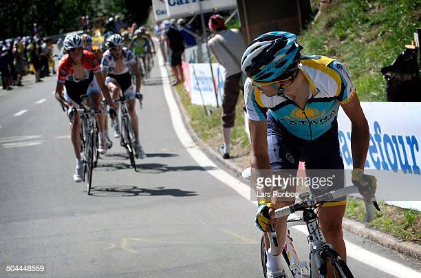 Tour de France, Stage 15 - Alberto Contador, Team Astana wins the stage in Verbier. © Frontzonesport