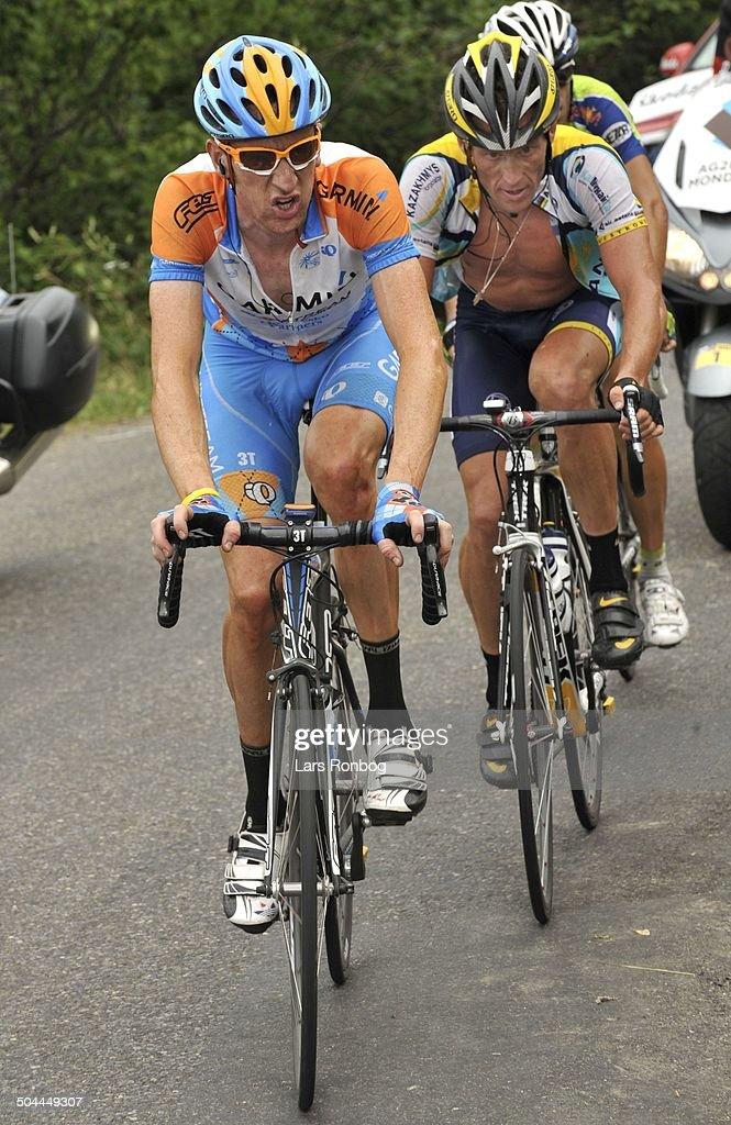 Tour de France, Stage 17 - Bradley Wiggins (GBR- Garmin) - 22. Lance Armstrong (USA - Astana) © Frontzonesport