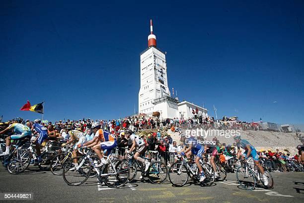 Tour de France, Stage 20 - Peloton on Mont Ventoux. © Frontzonesport