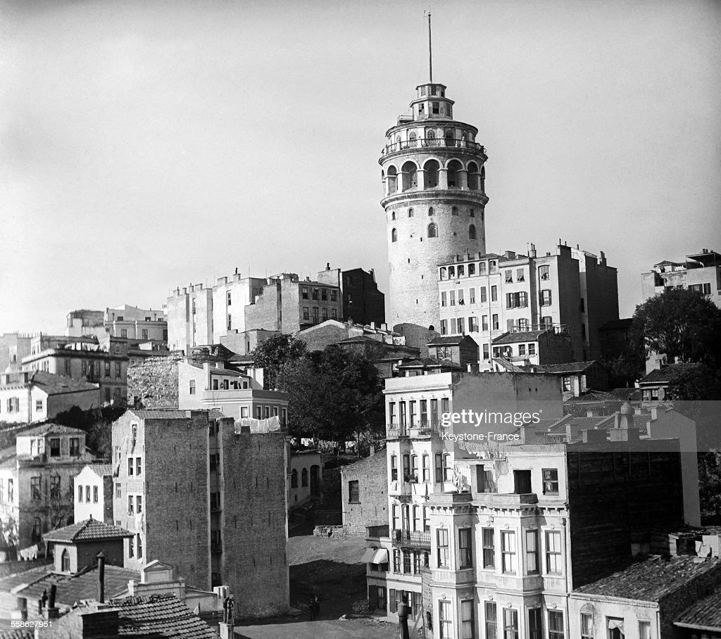 Tour De Galata A Constantinople : News Photo