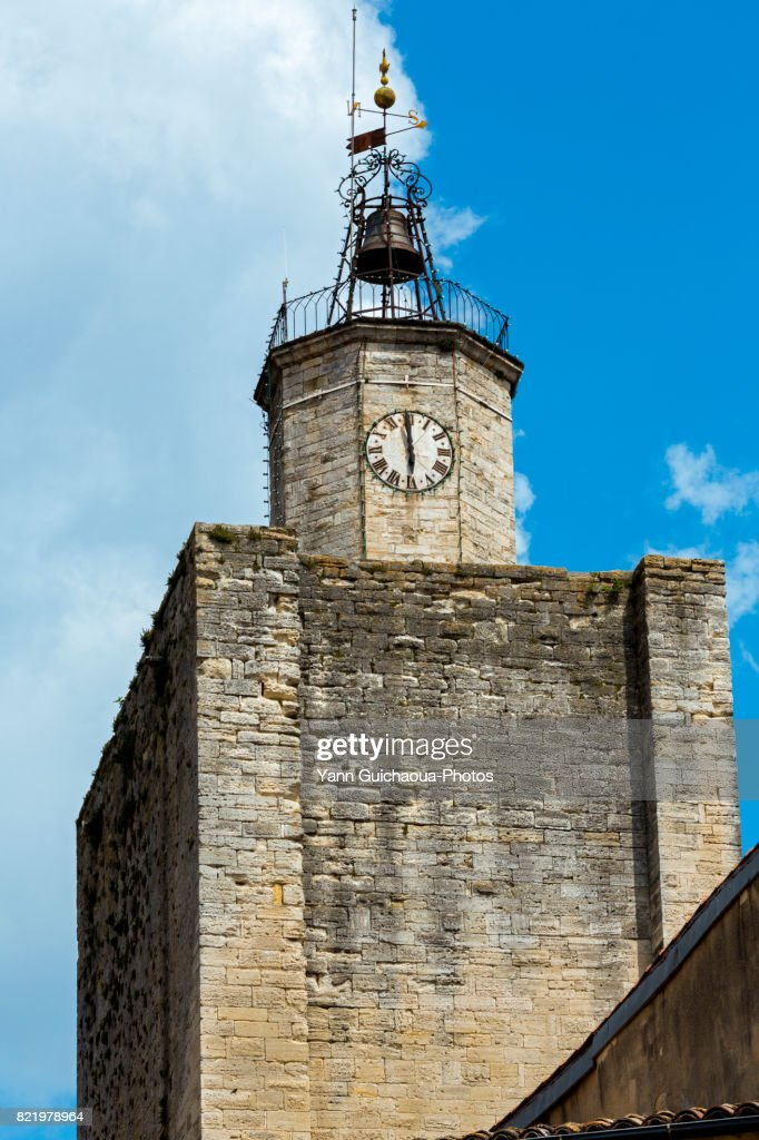 Tour de l 'Eveque, Uzes, Gard, Occitanie, France : Stock Photo