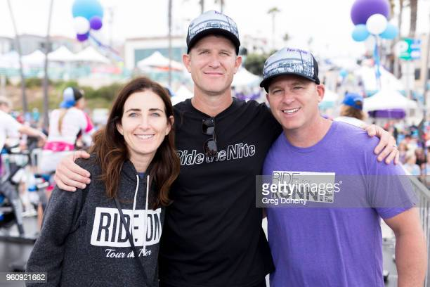 Tour de Pier CoFounders Keith Gregory Lisa Manheim and John Hirschberg attend the 6th Annual Tour de Pier at Manhattan Beach Pier on May 20 2018 in...
