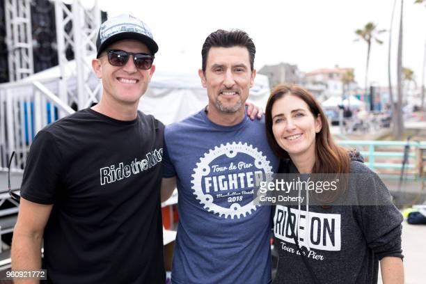 Tour de Pier CoFounders Keith Gregory Lisa Manheim and Nomar Garciaparra attend the 6th Annual Tour de Pier at Manhattan Beach Pier on May 20 2018 in...