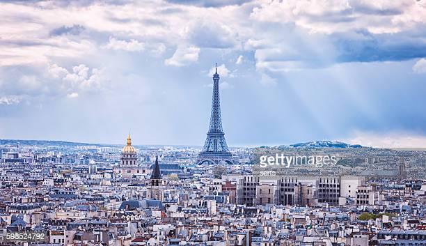 Tour Eiffel and Paris city view