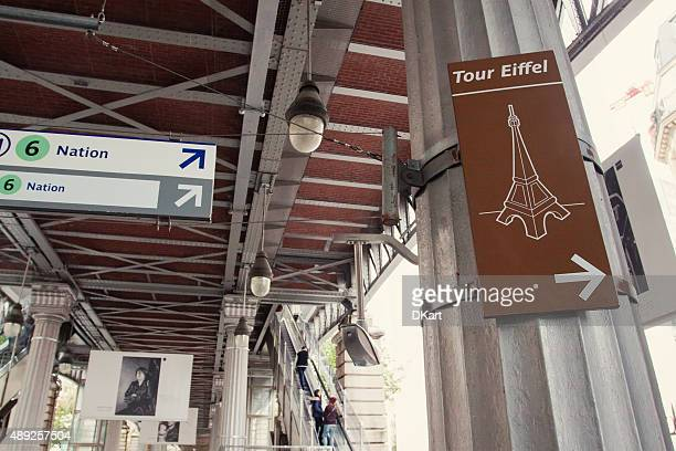 tour eiffel area - information symbol stock pictures, royalty-free photos & images
