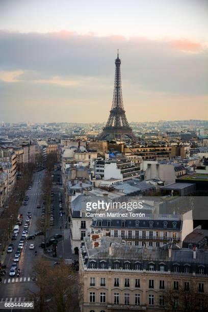 Tour Eiffel as seen from Arc de Triomphe