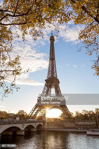 Tour Eiffel in autumn, Paris, France