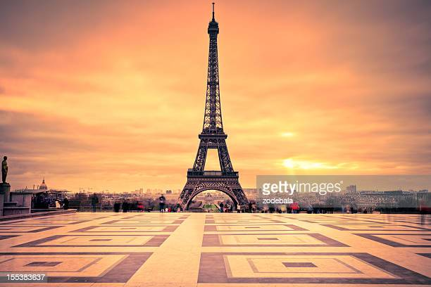Tour Eiffel of Paris at Sunset