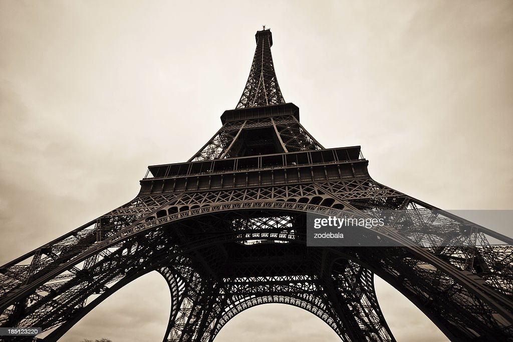 Tour Eiffel Of Paris In Black And White Stockfoto Getty Images