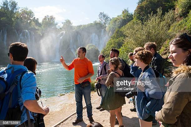 ツアーで Kravice の滝ボスニア