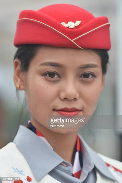 Tour hostess awaiting for the Award Ceremony of the fourth stage of the 2017 Tour of China 1, the 3.3 km Chenghu Jintang individual time trial. On...