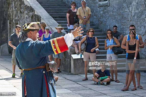 tour in the historic Castillo de San Marcos in St Augustine Florida USA