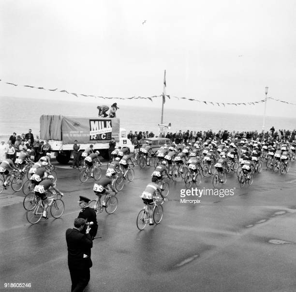 Tour of Britain cycle race Blackpool Lancashire 7th June 1964